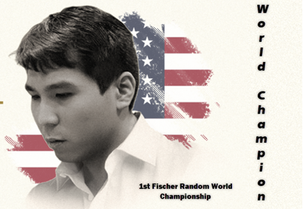 Wesley So is the 1st ever Fischer Random World Champion!