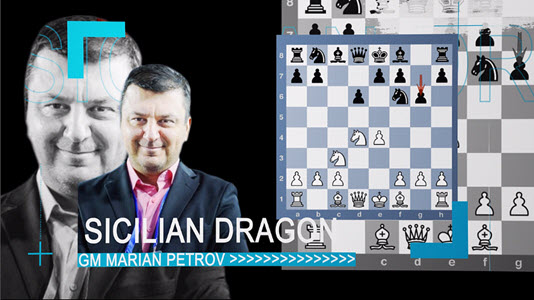 GM Petrov's Sicilian Dragon - Video 4 - A sharp line after White's Be2, Be3 and castle