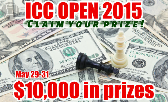 ICC Open 2015. Claim your prize!