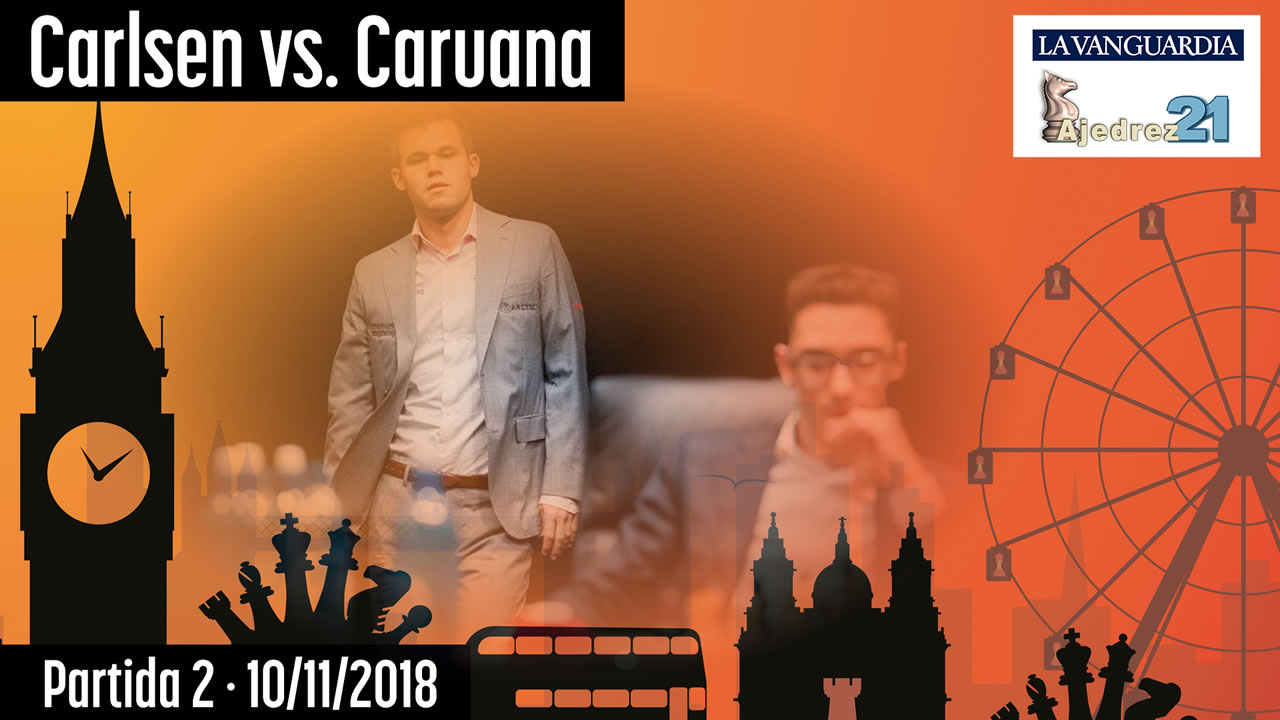 Partida 2 - Mundial ajedrez Carlsen - Caruana (GM José González)