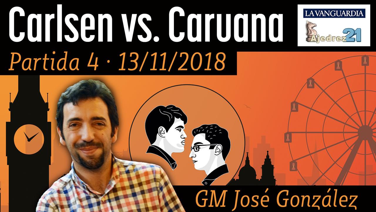 Partida 4 - Mundial ajedrez Carlsen - Caruana (GM José González)