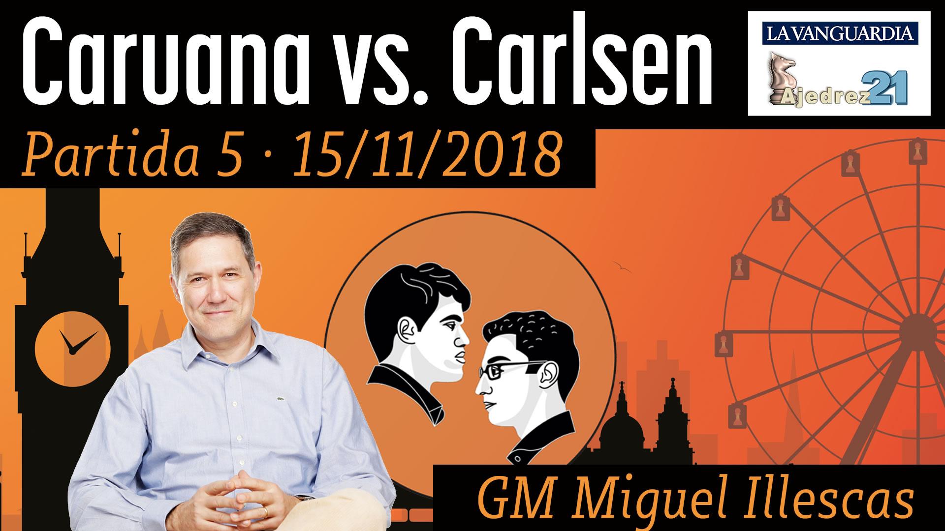 Partida 5 - Mundial ajedrez Carlsen - Caruana (GM Miguel Illescas)