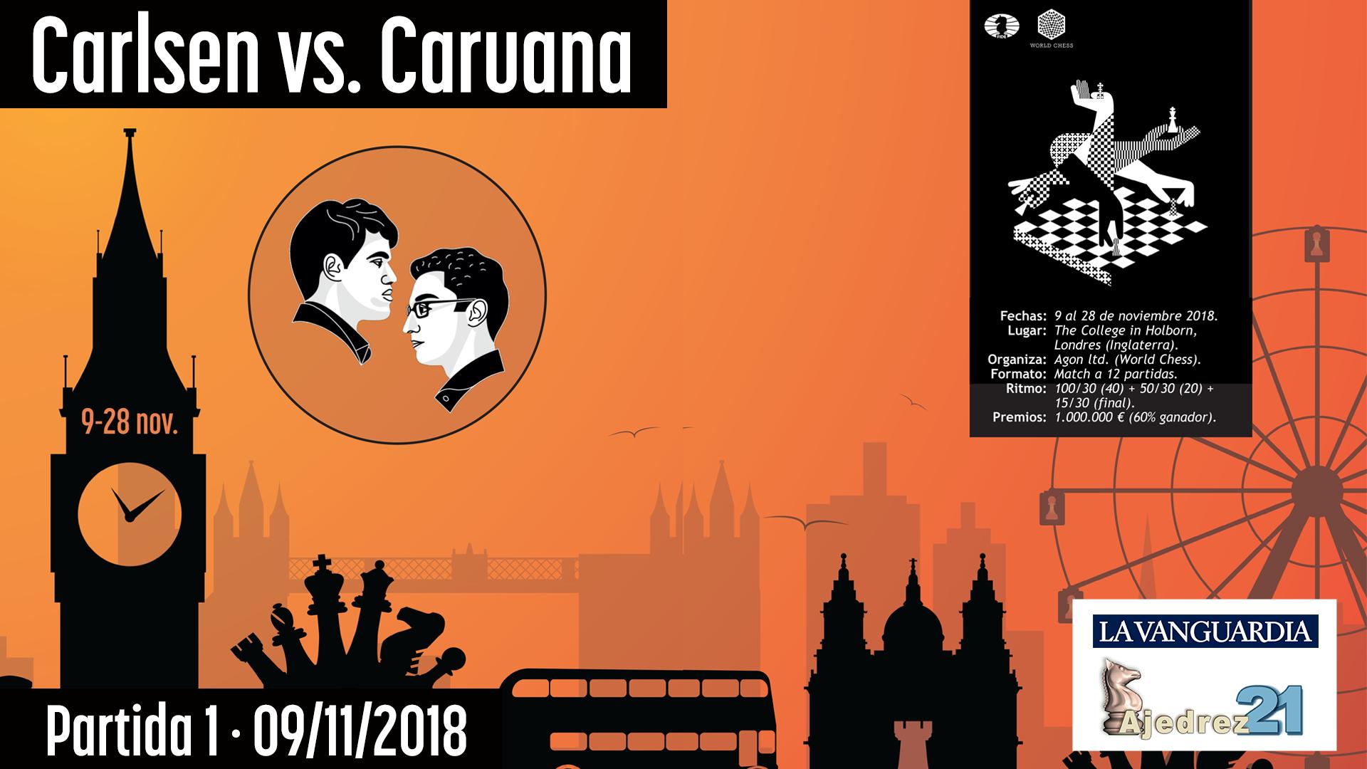 Partida 1 - Mundial de ajedrez Carlsen - Caruana (Gran Maestro José González)
