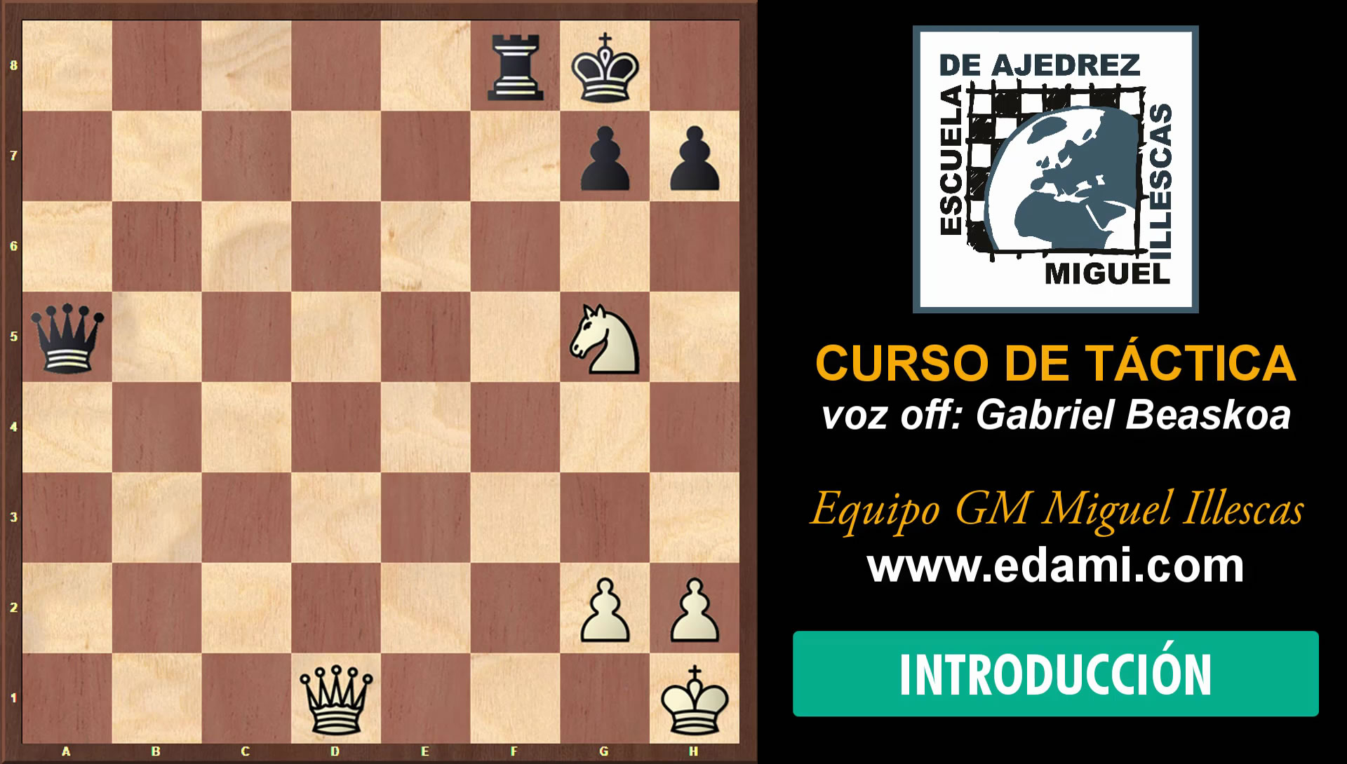 Curso de Táctica de ajedrez EDAMI #00 - Introducción