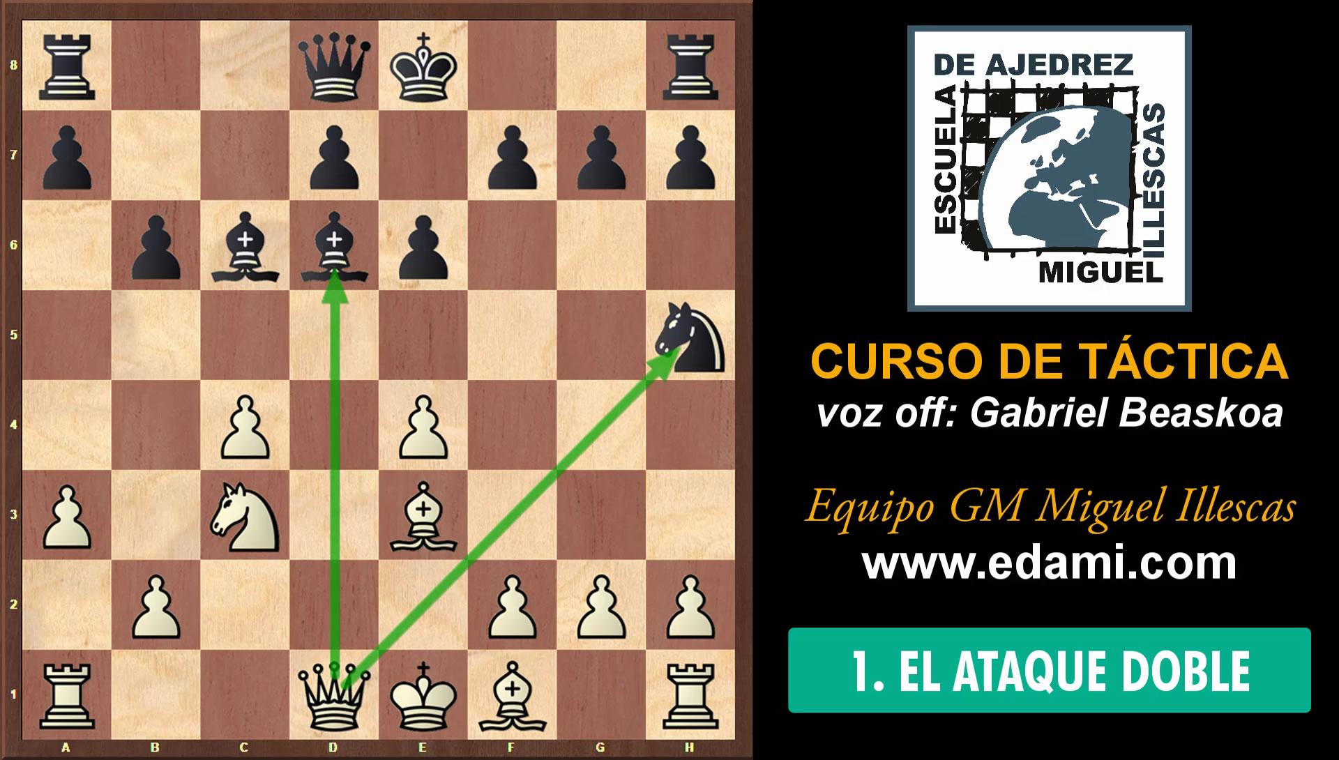 Curso de Táctica de ajedrez EDAMI #01 - El Ataque Doble