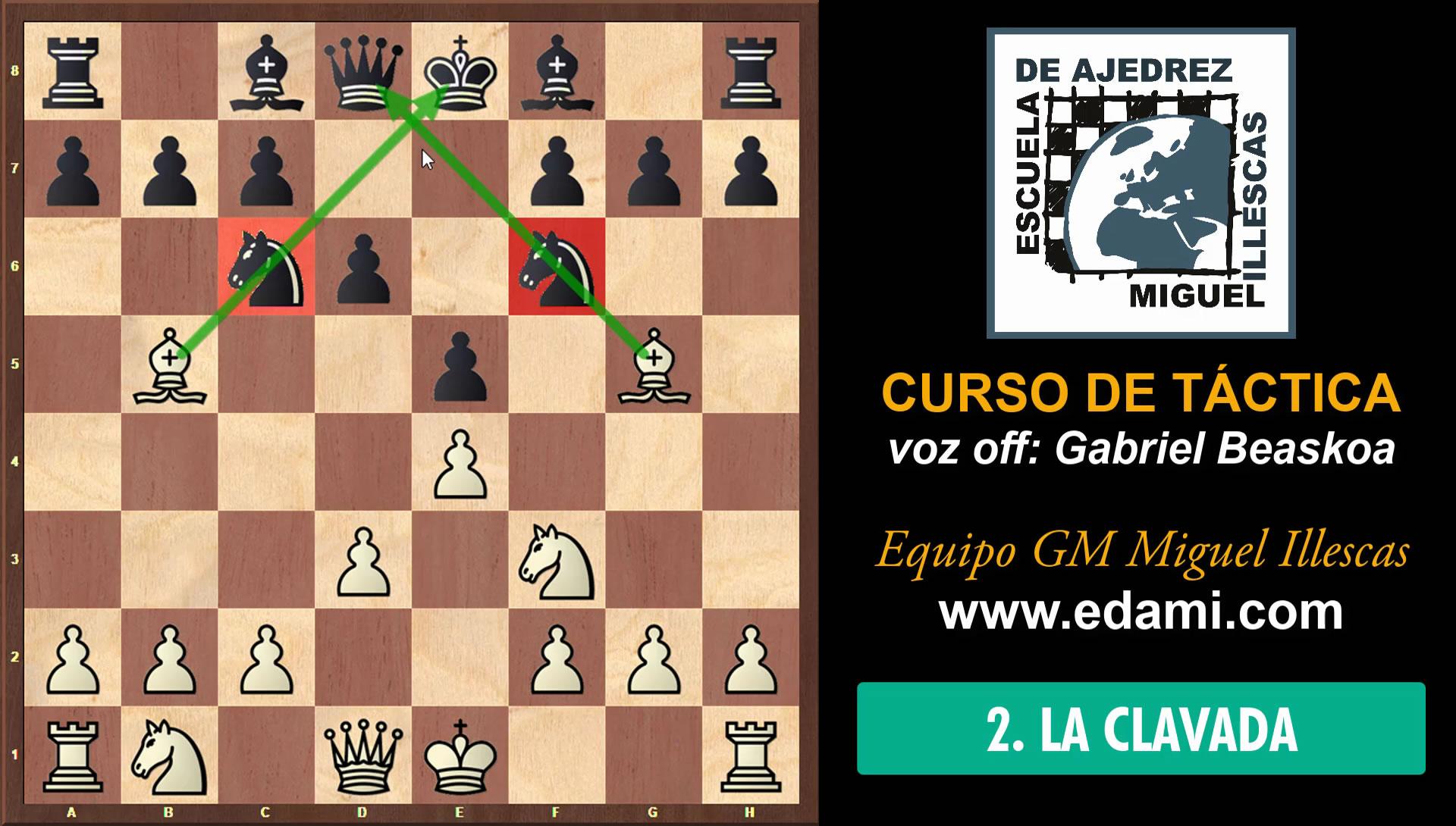 Curso de Táctica de ajedrez EDAMI #02 - La Clavada