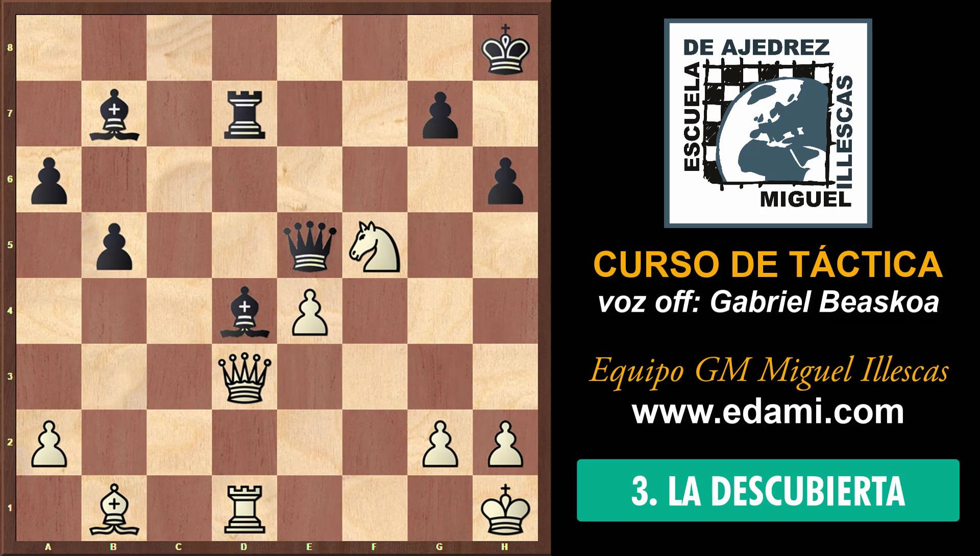 Curso de Táctica de ajedrez EDAMI #03 - La Descubierta