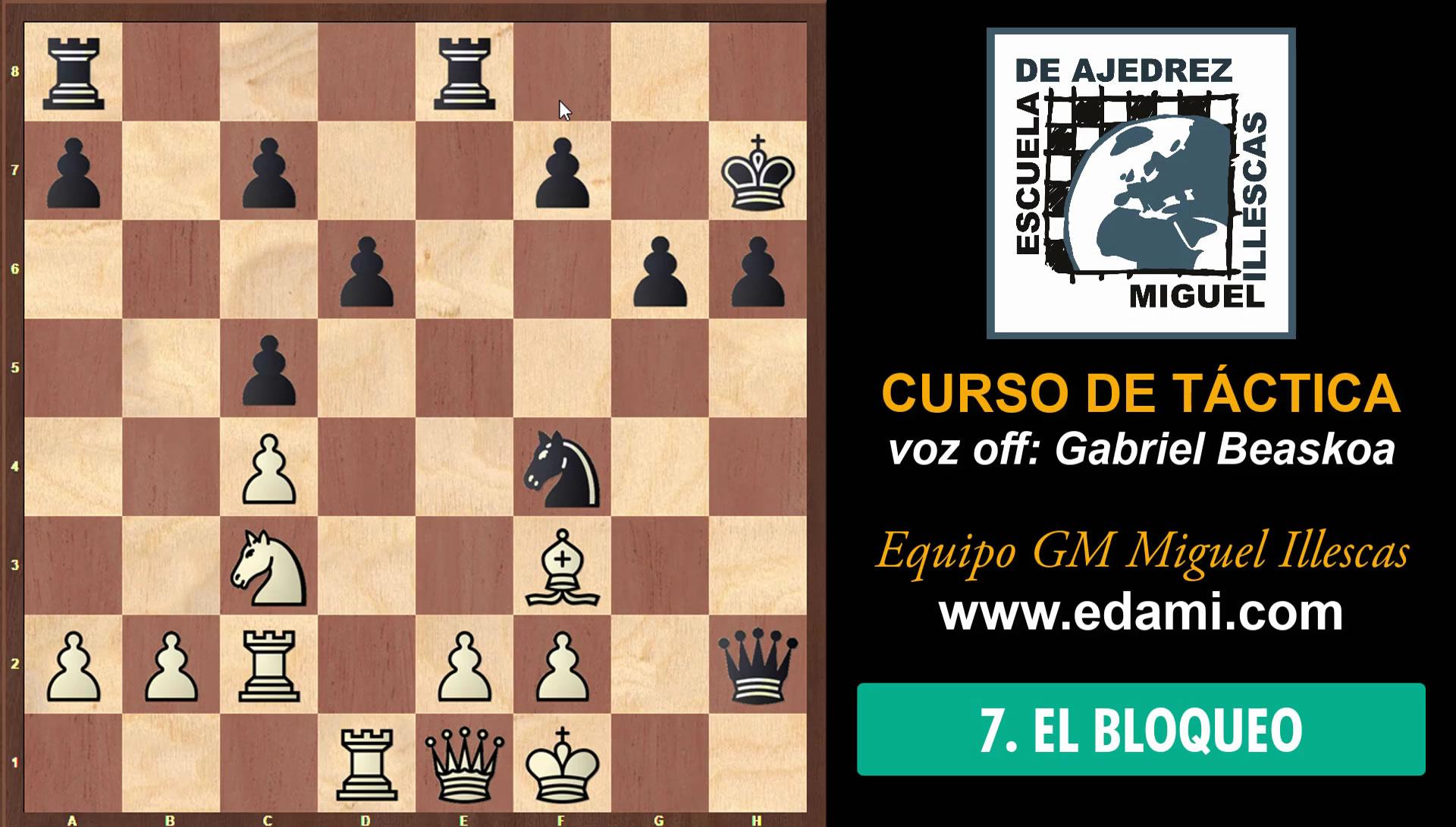 Curso de Táctica de ajedrez EDAMI #07 - El Bloqueo