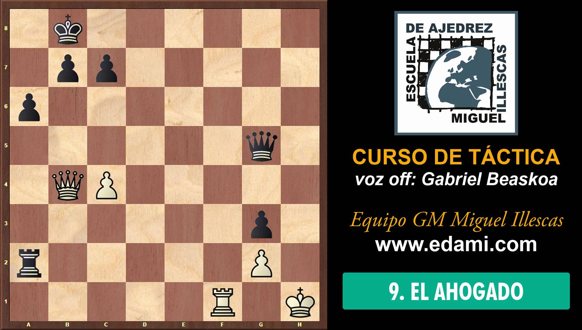 Curso de Táctica de ajedrez EDAMI #09 - El Ahogado