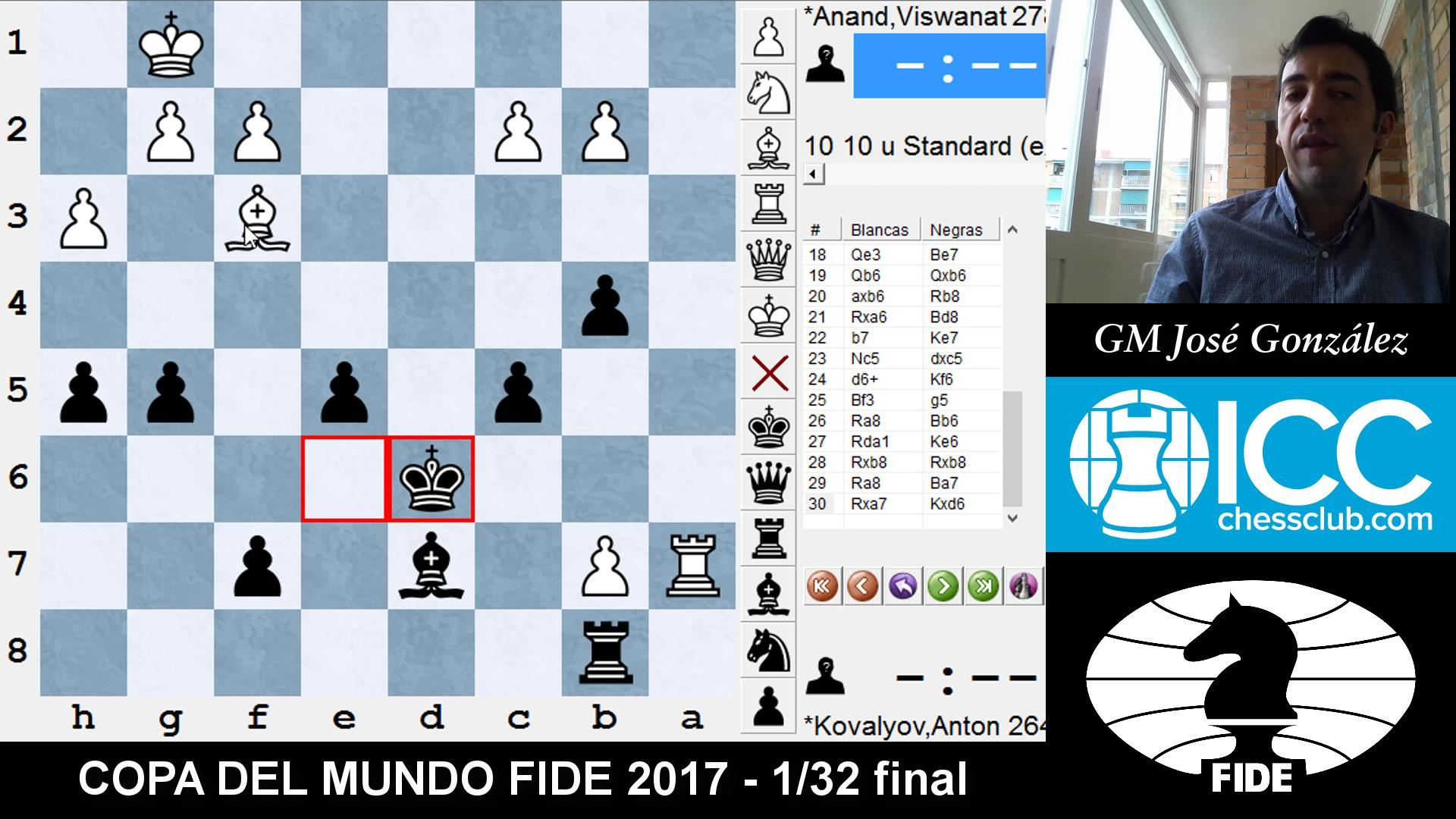 COPA DEL MUNDO FIDE 2017 - Resumen 1/32 final (GM José González)