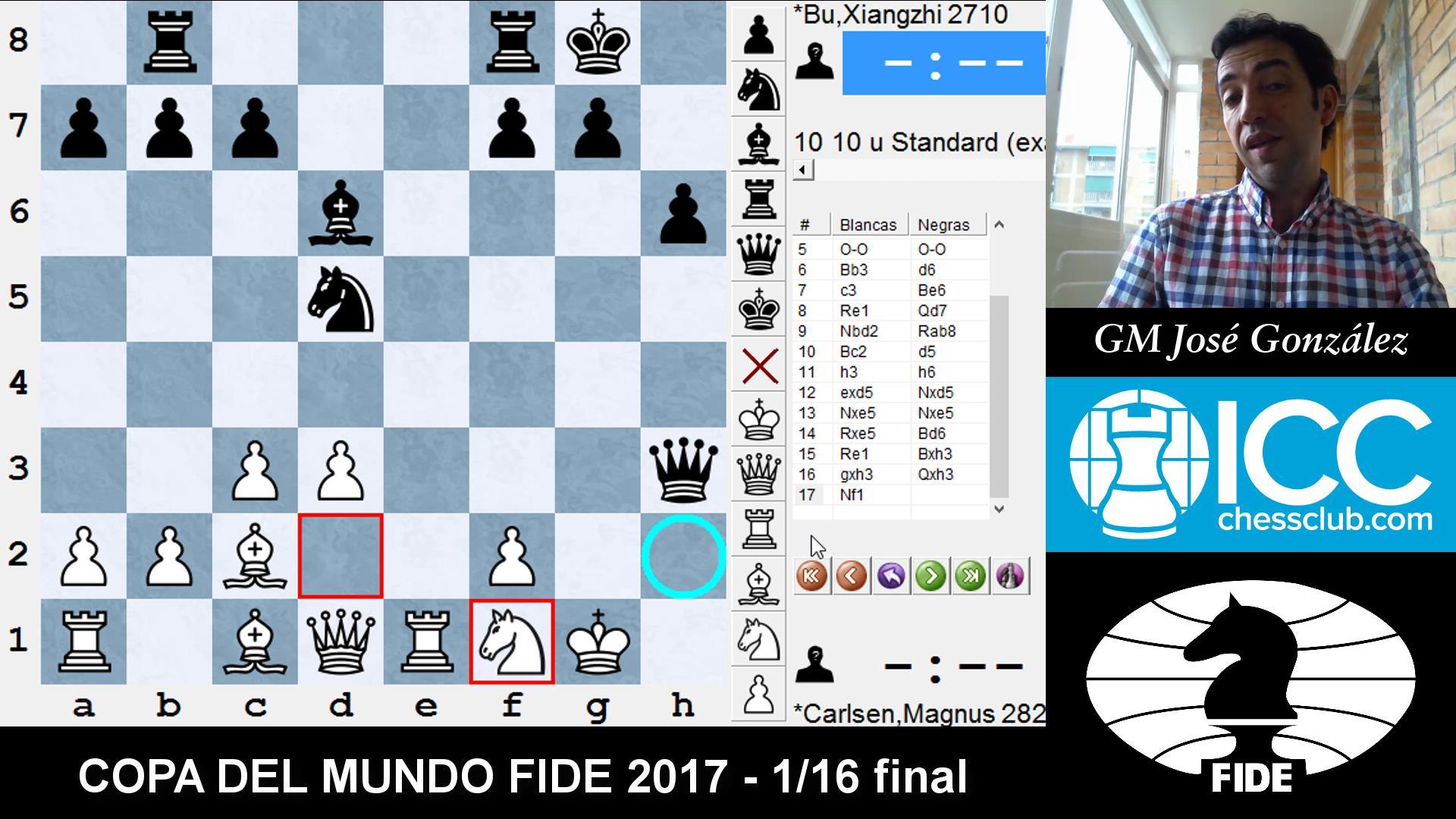 COPA DEL MUNDO FIDE 2017 - Resumen 1/16 final (GM José González)