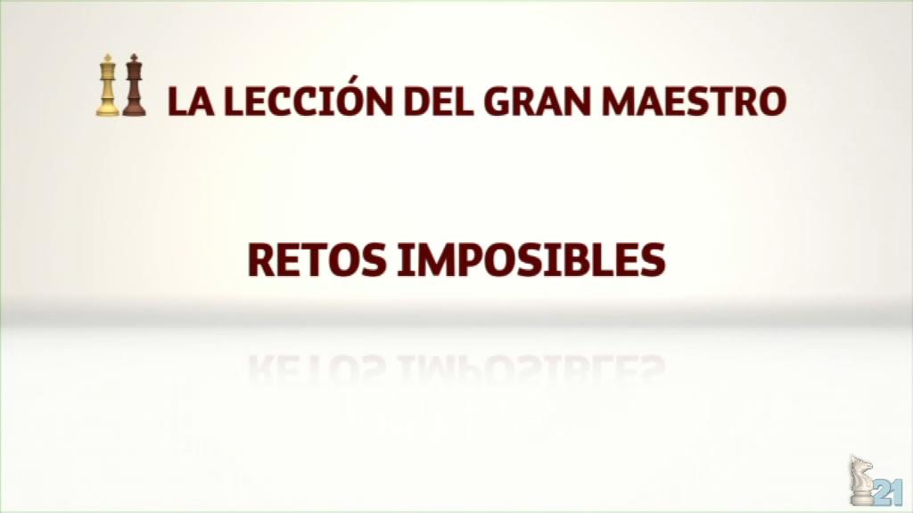 Leccion ajedrez GM Miguel Illescas #35 - Retos imposibles