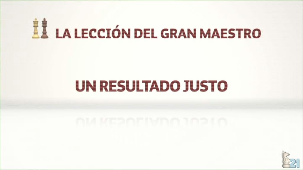 Lección GM Miguel Illescas #40 - Un resultado justo