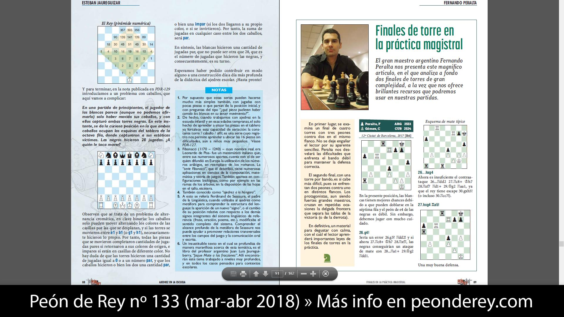 Finales Magistrales del GM Peralta (PDR-133 - GM Miguel Illescas)